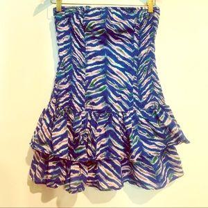 Moda International Ruffled Strapless Dress Purple